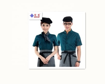 Hot sale fashion custom staff uniform waiter uniform