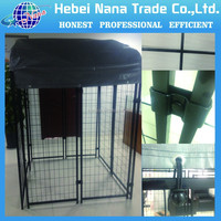 chain link fence dog kennels / black dog run pen