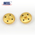 2019 New Arrivals Custom Brand Logo Embossed Gold Metal Coat Buttons With Holes