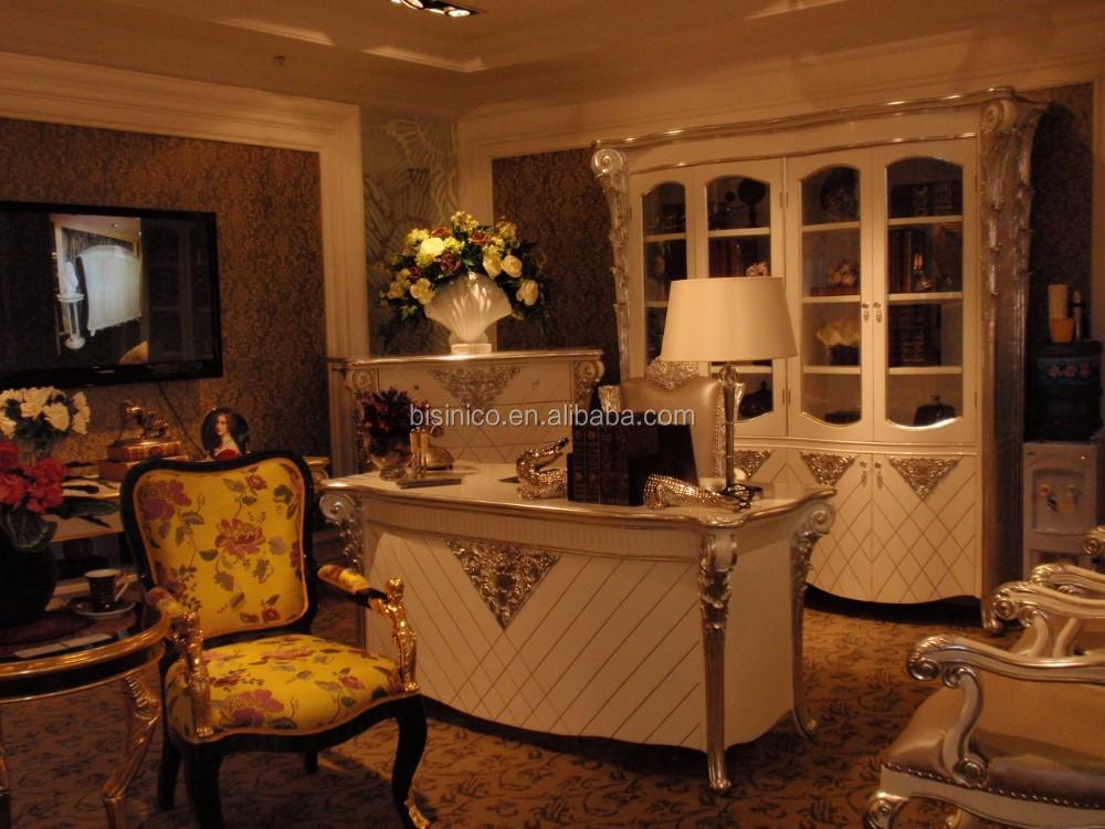 impressive louis xvi style white color executive office furniture