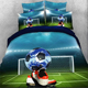 Home Textile Wholesale 3D Digital Printed Sun Dubai Slats Cool Football Series Pillowcase Sheet Bedding Set , Bed Cover