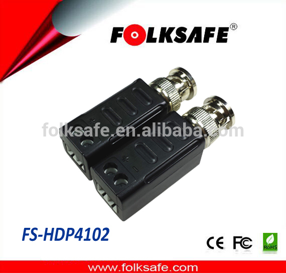 Folksafe HD passive 1 channel video balun with screw terminal bnc connector no converter