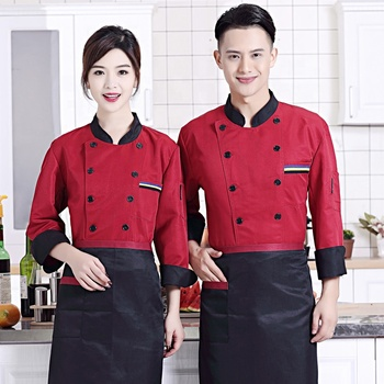 0547ec9063a 2018 latest version High quality new fashion uniform suit custom kitchen  clothing chef uniforms for restaurant