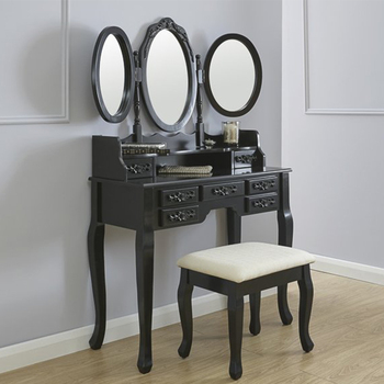 Low Price Indian Bedroom Mirror Wooden Dressing Table With Modern