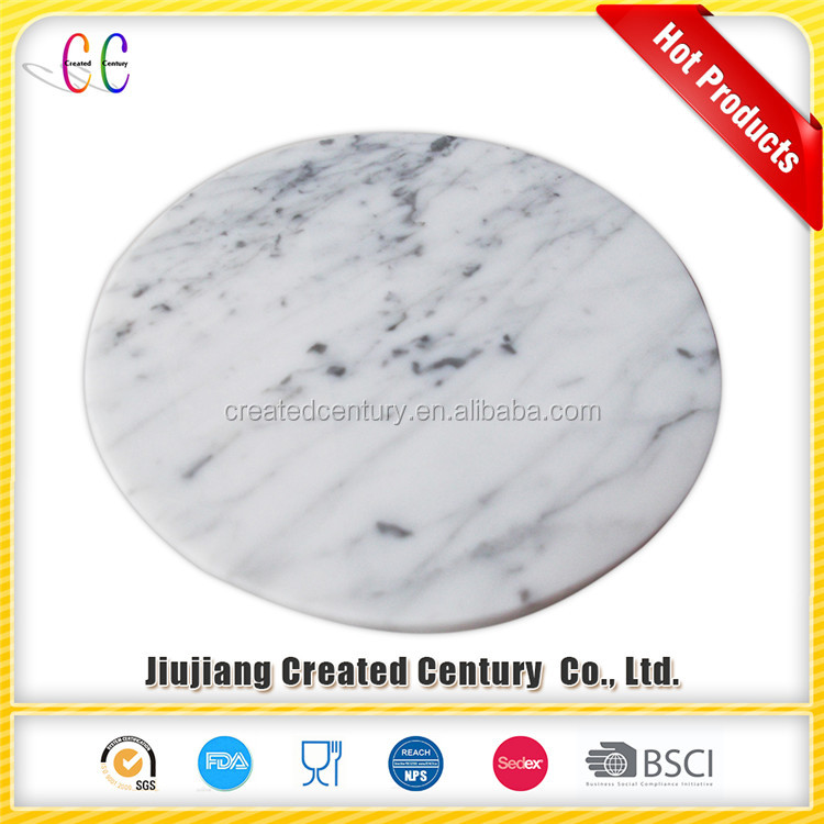 Good quality low price white carrara marble chopping board with cheese knife