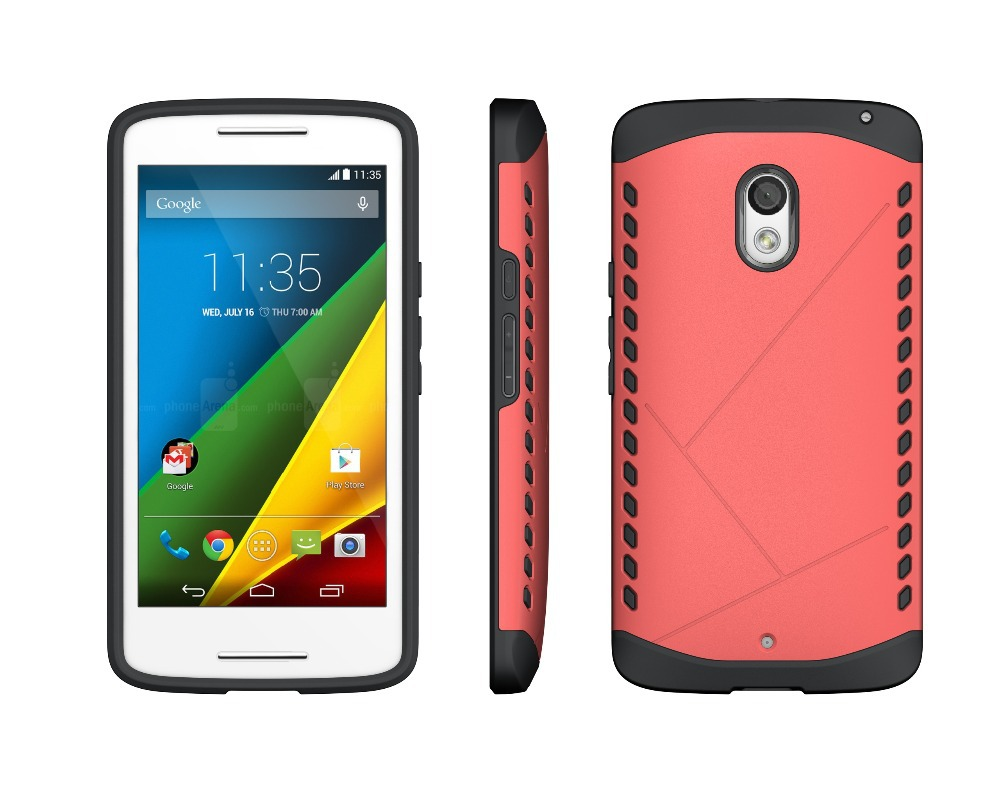 Shockproof Dual Layer Heavy Duty Case Cover For Motorola Moto X Play