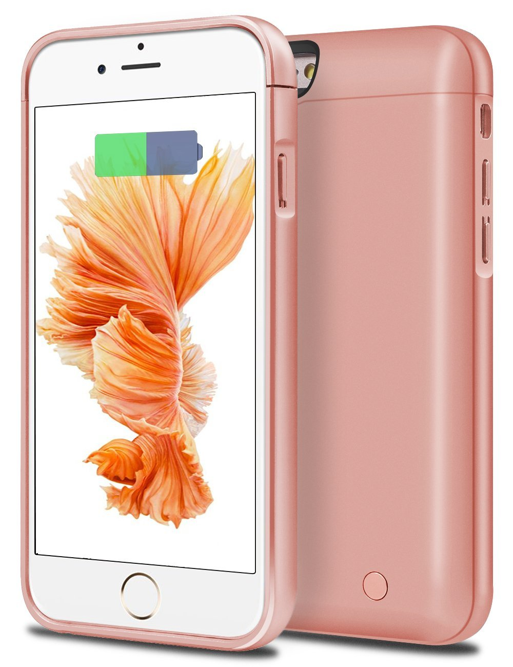 iPhone 6S Battery Case, iPhone 6 Battery Case, Cheeringary 5000 mAh External Battery Case iPhone 6 6S Battery Pack Portable Charger Charging Case for iPhone 6S / 6 4.7'' - Power Bank Case (Rose Gold)