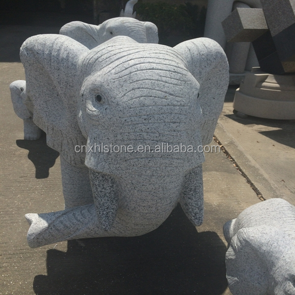 Chinois gris granit marbre pierre en plein air antique Elephant Statue / sculptures / sculpture pour vente de la chine