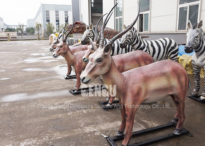 3D Lifelike Animal Model Fiberglass Antelope Sculpture