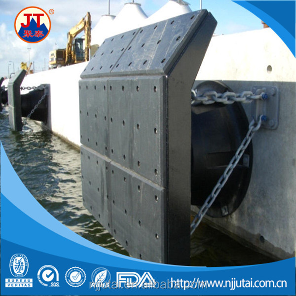 Facing dock black UHMWPE marine fender boards