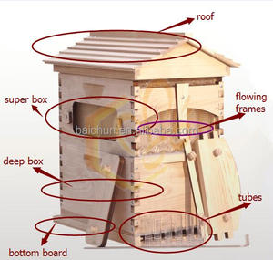 automatic honey outflow beehive with frame,the flow hive for honey bee from HeNan beekeeping equipment supplier