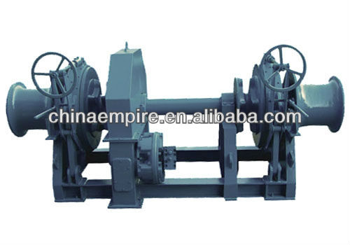 Marine hydraulic anchor windlass deck equipment