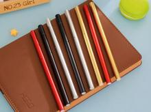 wholesale DIY creative stationery personalized Novelty blank black golden red silvery metal color ball point pen office gel pens