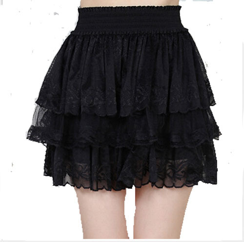 2015 summer new mesh gauze  plus two layers lace mesh princess skirts womens  simple elegant fashion cute tutu saia