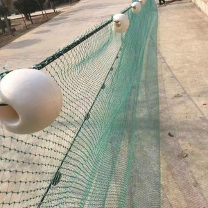 2019 high pvc floating fishing net with plastic ball