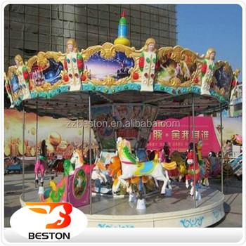 outdoor amusement park music christmas rides carousel decoration