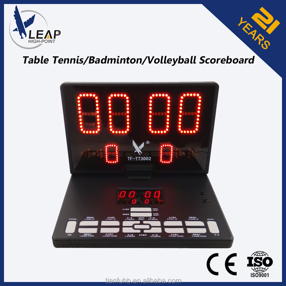 High Visibility LED digits portable volleyball score board for Semi-outdoor