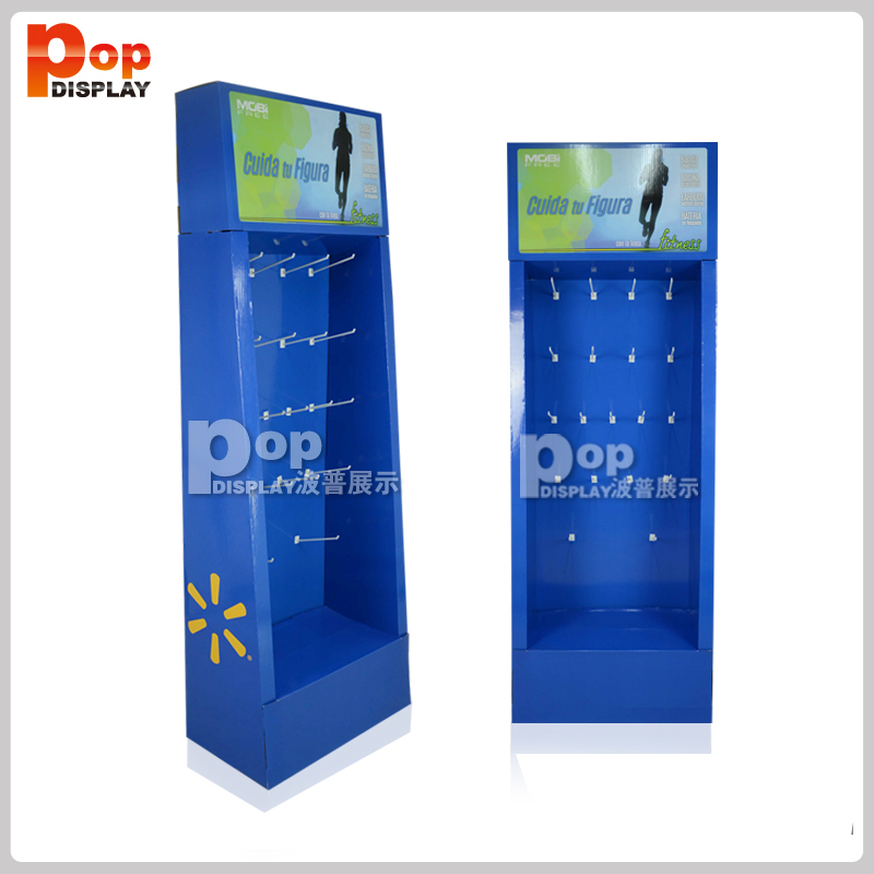 Cell Mobile Phone Case Accessories Counter Top Cardboard Display Stand with Hooks, Cardboard Hook display for socks