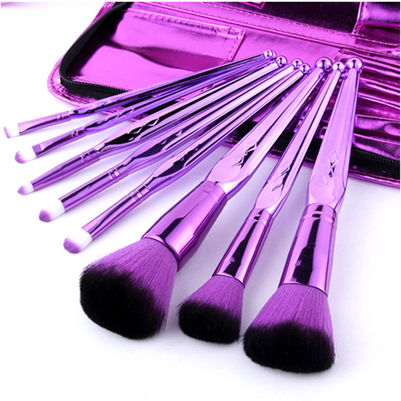 2018 hot custom logo different shapes stainless steel makeup Artist Metal Mixing bending cosmetics makeup Palette for makeup