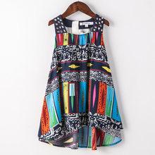 Детское летнее платье для девочек; Новинка 2019 года; брендовые Детские пляжные платья для девочек; детское богемное платье; модная одежда(Китай)