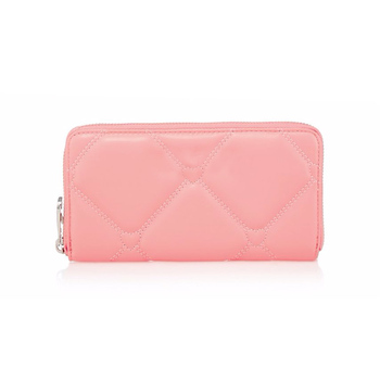 Custom Logos Printed pu leather women purse clutch wallet with many card slots