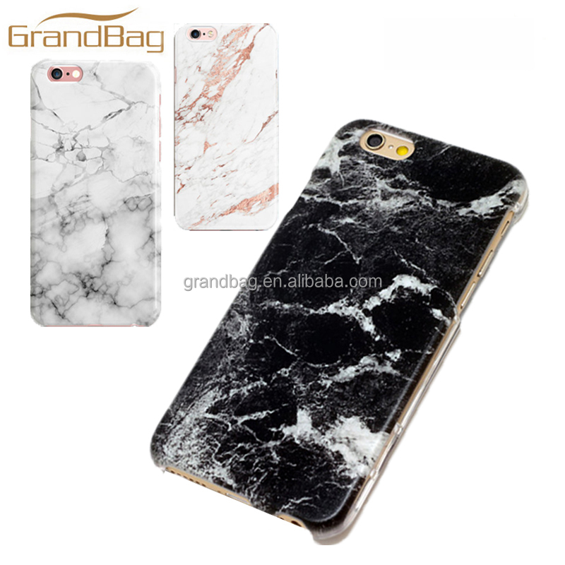 Wholesale mobile phone cases high quality white black marble leather phone cover for iphone 7 and iphone 7 plus