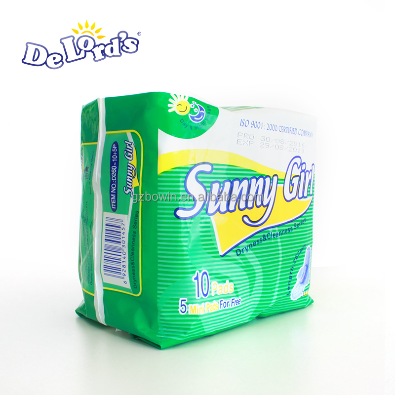 Sunny Girl Sanitary Pad High Quality in Favorable Prices Hot Selling