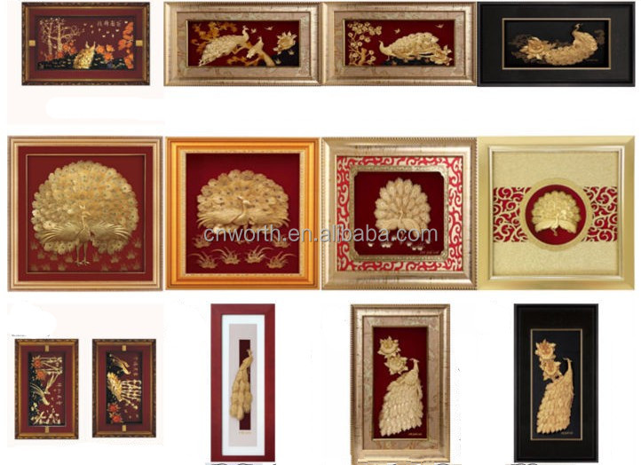 gold picture frames pure handmade indian god gift 3d frame wall hanging hot sale in christmas
