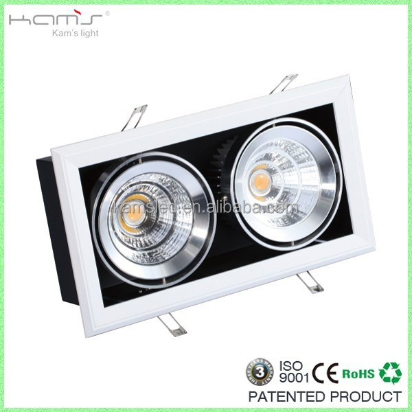 hight quality products Discount showroom/office recessed cob spot bean light square led grille lighting 40W