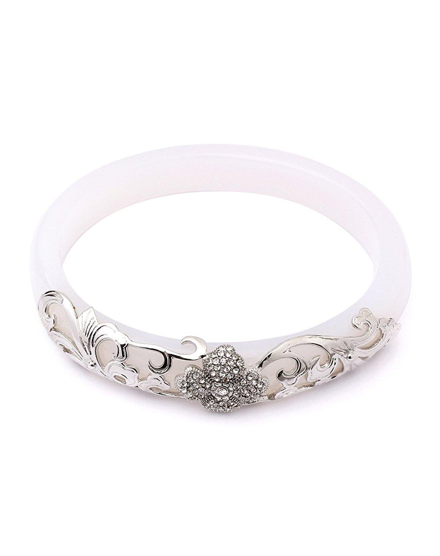 Limited Sales Promotion O-stone White Chalcedony and Moon Light Goddes Bangle Grounding Stone