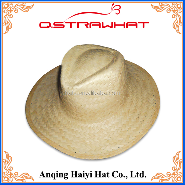HYSH65 New custom multi color outdoor sun hat folding straw hat