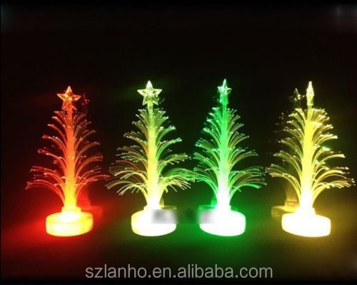 Ouneed 12*3.5cm Christmas Xmas Tree Color Changing Led Light Lamp Home Decoration Happy Gifts High Quality Optical Oct 6 Furniture Accessories