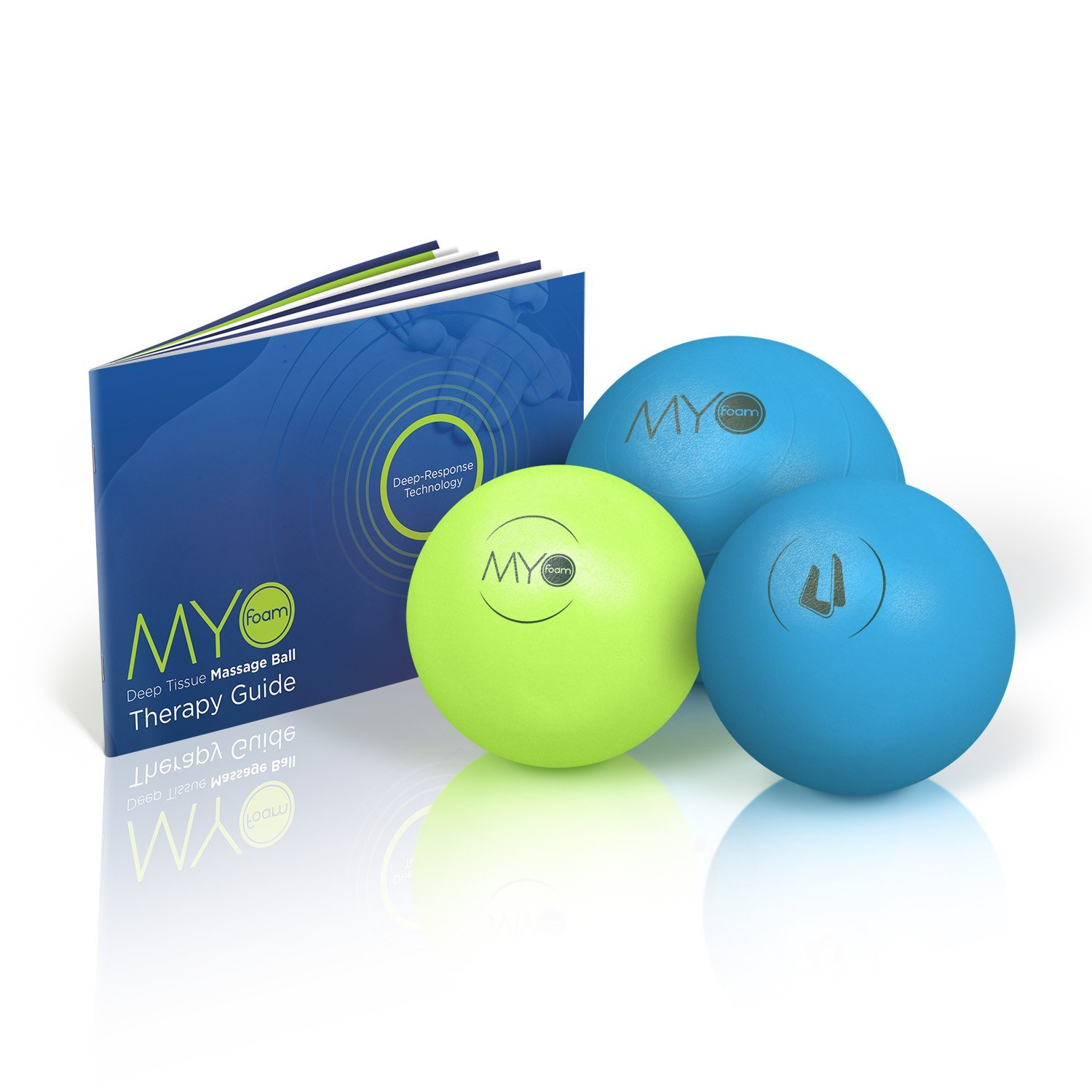 "Deep Tissue Massage Balls with Myofoam for Trigger Point Therapy with 5"" Mobility (3 Pack)"
