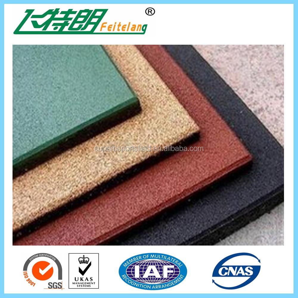 Hoge Kwaliteit Rubber Vloeren Tegels Rubber Vloeren