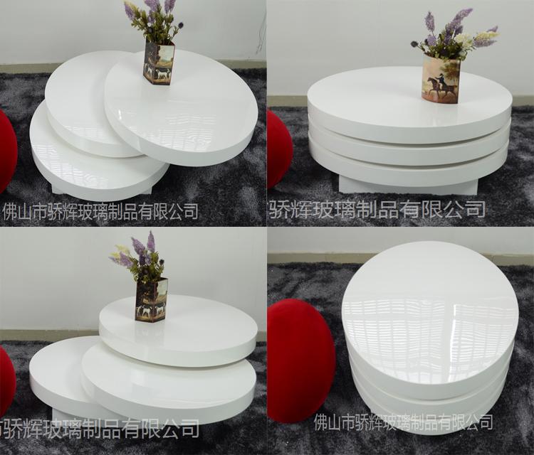 High Gloss Fiberglass Coffee Table High Gloss Fiberglass Coffee - Round rotating coffee table