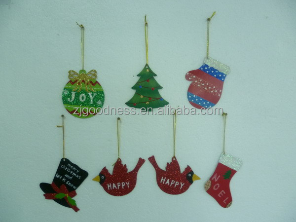 7 Metal Christmas Tree Ornaments Sock Glove Bird Miniatures
