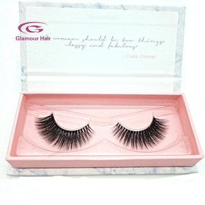 False eyelashes clear band 100 real fur lashes 3d mink
