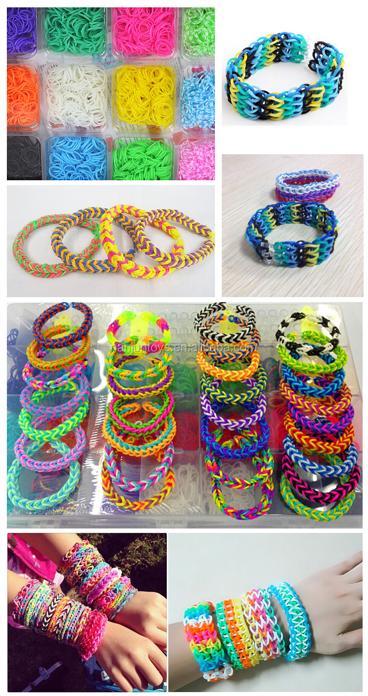 Diy Friendship Bracelet, Diy Rubber Band Bracelet Loom Kit, Loom And Bands  Jewelry Making