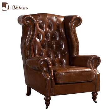 Awesome Vintage Leather Queen Anne Tufted Back Antique Wing Back Chair Buy Queen Anne Tufted Back Wing Chair Antique Wing Back Chair Vintage Leather Wing Creativecarmelina Interior Chair Design Creativecarmelinacom