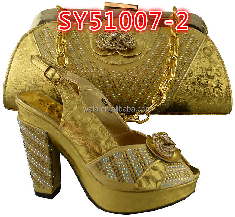 fashion shoes italian set party bag SY51007 style high matching and set wedding bag heel 6 shoes gray italy and for gx86qYEx