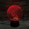2019 Amazon Best Seller 3D Earth Globe Night Light 7 Color Changing USB LED Desk Lamp For Home Decor