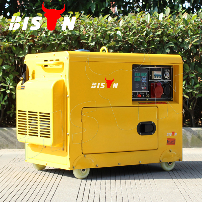 BISON(CHINA) 5KVA Mobile Power Supply 5kva CE, ISO Approved Super Silent 5kw 5000w 5kva Diesel Generator Price