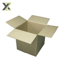 Custom 3 layers plain brown transport carton corrugated shipping boxes