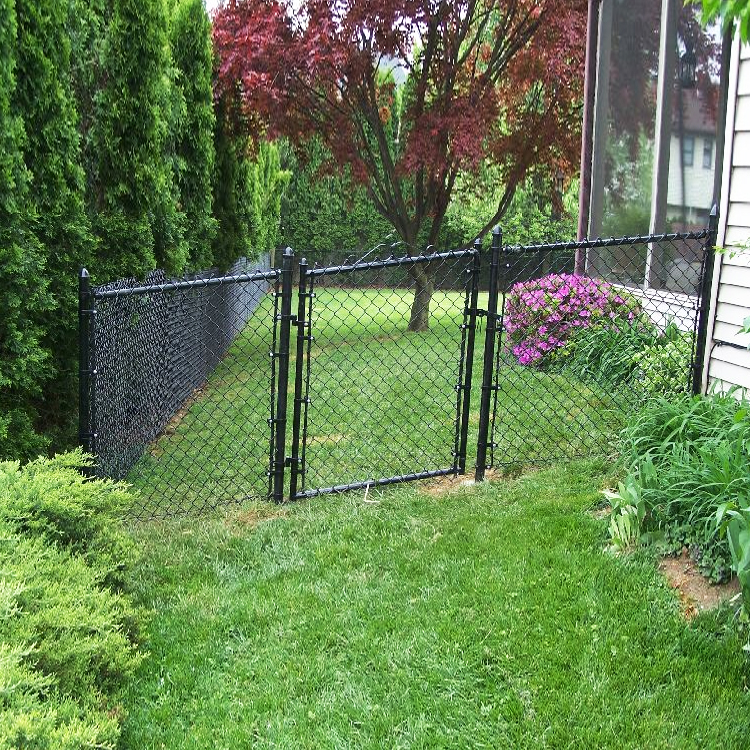 Heavy duty green pvc coated chain link steel mesh fencing