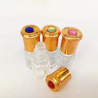 3ml 6ml 12ml octagonal perfume oil/attar bottle wholesale crystal perfume bottles