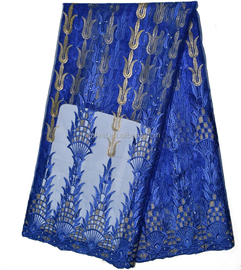 New Arrival Net Embroidery african tulle lace Fabric design for Women Wear LC292-6