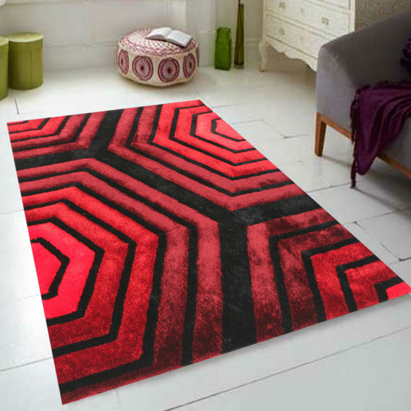 New Design Polyester Long Pile Gy Carpets And Rugs
