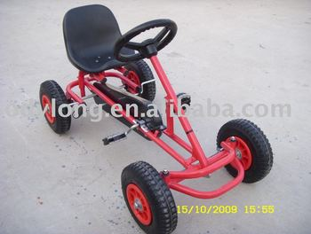 Toy Pedal Car With Steering Wheel Metal Go Kart China