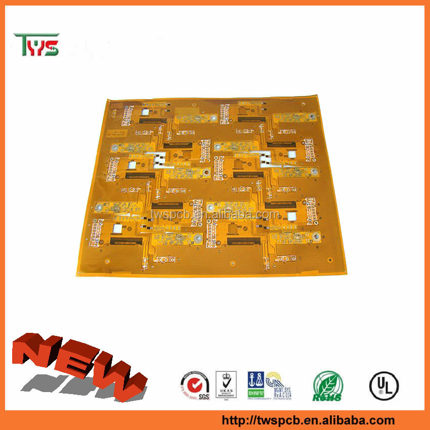 flexible pcb board,0.2mm,EING finish,polyimide material