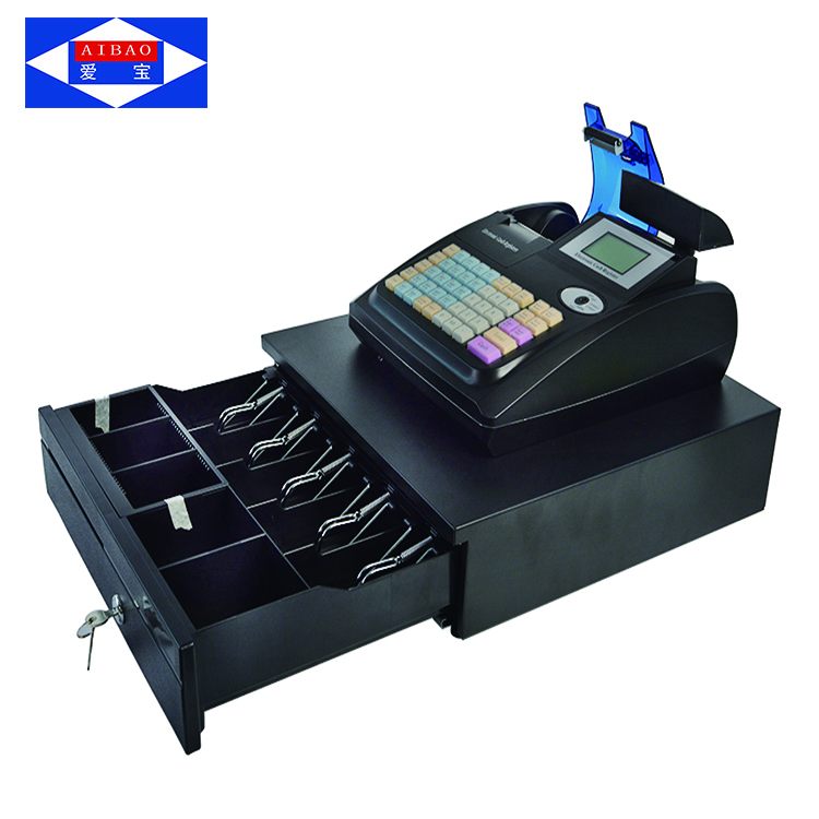58mm printer supermarkt elektronische kassa machine met kassalade/winkel elektronische kassa machine